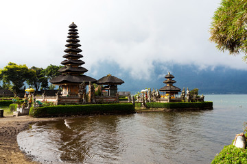 Pura Ulun Danu water temple on a lake Beratan. Bali