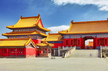 Palaces, pagodas inside the territory of the Forbidden City Muse