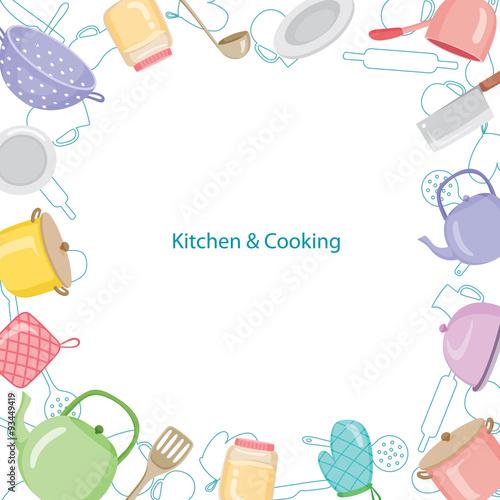 Kitchen Equipment Border, Kitchen, Kitchenware, Crockery, Cooking, Food,  Bakery,