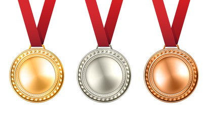Medals Set Illustration