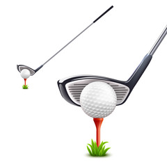 Wall Mural - Golf Realistic Set