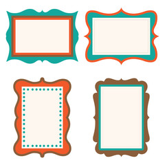 retro frame design perfect for your scarp booking and decorate your photo