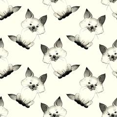 Kitten. Cute baby pattern 2