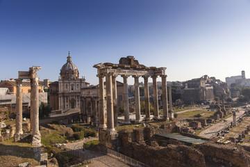 Temple di Saturno, Roman Forum, Rome, Lazio, Italy