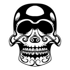 Decorated Skull Dia de los Muertos