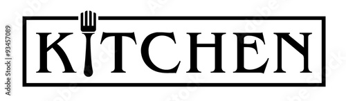kitchen logo with fork - Kitchen Logo