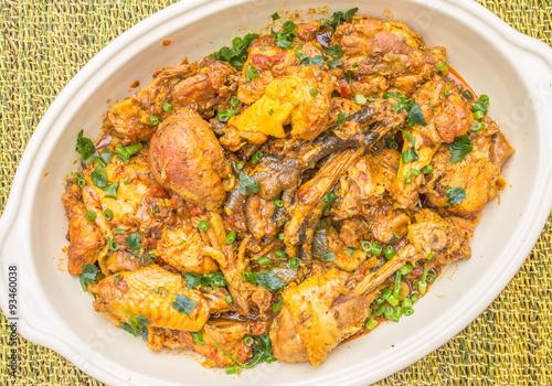 cari poulet fermier noir, cuisine créole, île de la réunion