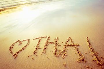 Inscription on sand