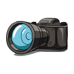 Old camera vector illustration