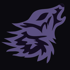 Wolf logo tattoo, vector illustration