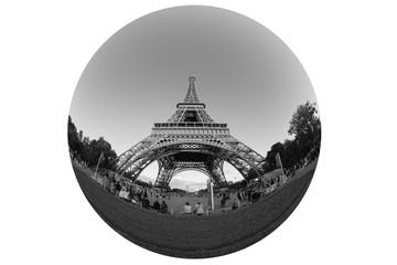 Eiffel tower, Paris, black and white image