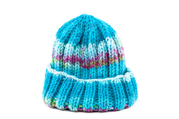Cold winter clothing - knitted wool hat