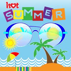 Hot Summer Vector Card