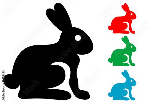 Pictograma conejo aislado varios colores\