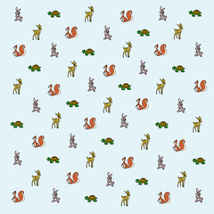 Cartoon forest animal wallpaper