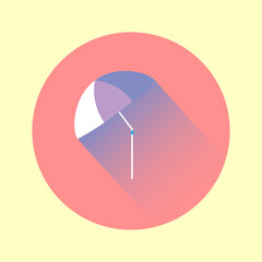 Colorful flat umbrella icon