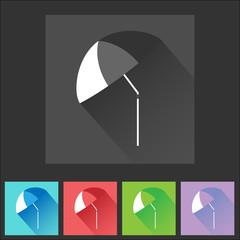 Colorful flat umbrella icon set