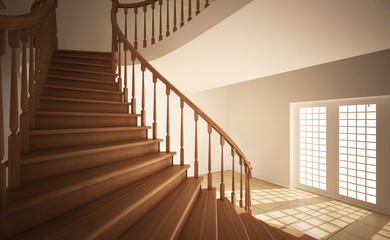 Stair in an empty room