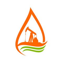 Oil Pump Derrick Logo