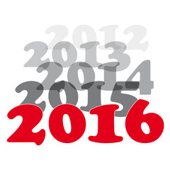 Creative text transition on 2016