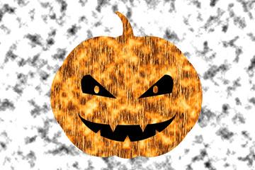 Scary Halloween pumpkin for halloween