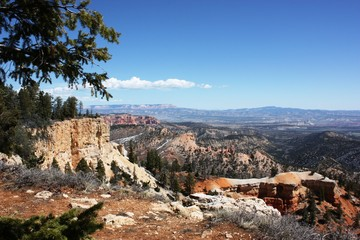 Area of Bryce Amphitheater at Bryce Canyon National Park, Utah