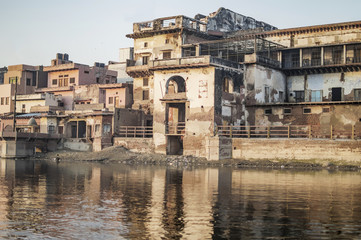 Old buildings on the river