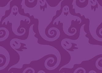 Halloween spooky ghost seamless repeat vector pattern