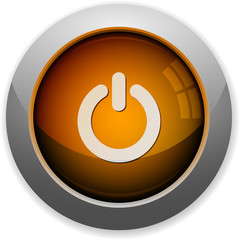 Orange power off button