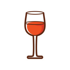 Glass of drink vector