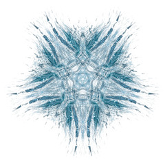 Fraktale Schneeflocke