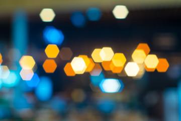 defocused hexagon  bokeh lights