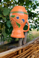 Traditional ukrainian clay jug