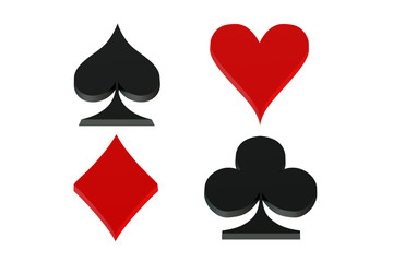Playing card symbols, card suit