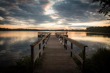 Sunset Over Dock