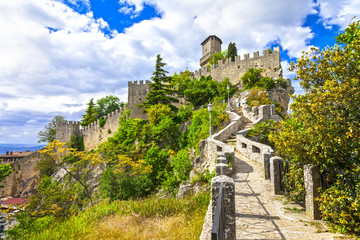 scenic Italy series - San Marino, view with castle Wall mural