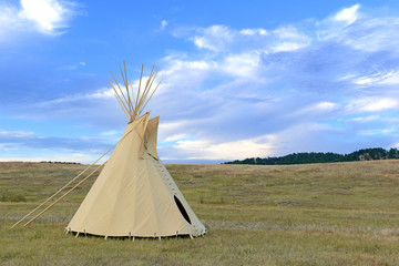 Teepee (tipi) as used by Native Americans in the Great Plains and American west