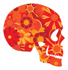 Mexican Skull Art Portrait Vector Illustration