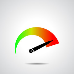 Tachometer icon. Vector illustration