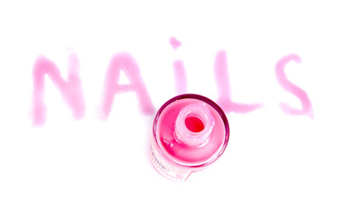 """""""Nails"""" made of nail polish isolated on white"""