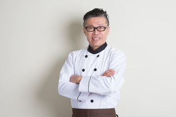 Mature Asian Chinese chef portrait