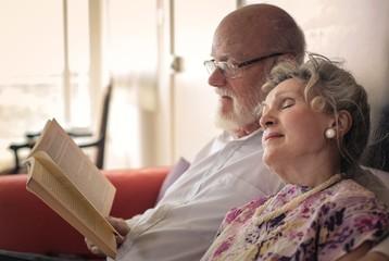 Tender elderly couple