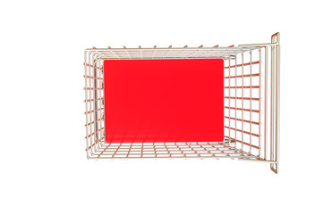 Shopping cart isolated on white background for sale trolley