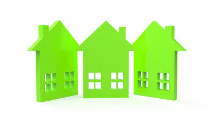 home and home signs models on rent as apartments on white background