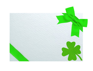 Greeting card for Saint Patrick's Day isolated on white backgrou