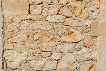 Steinmauer Uralt Antik Hintergrund