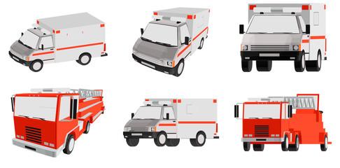ambulance, special car