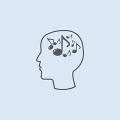 Music vector icon