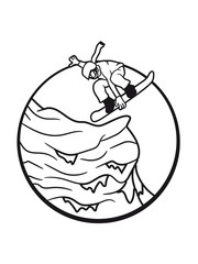 snowboarder stunt jump cool sun