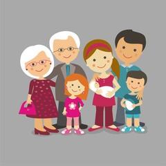 Abuelos, padres y nietos